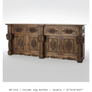 BF-CLD-column-leg-buffet_double-92_x24_x40_